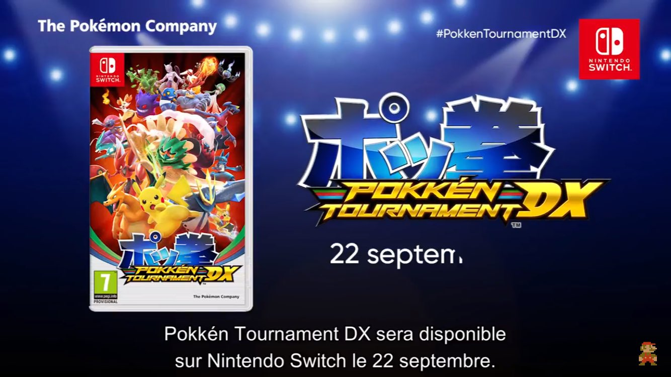 nintendo pokemon direct rotek, pokken tournament dx ultra sun moon lune soleil argent or 3ds