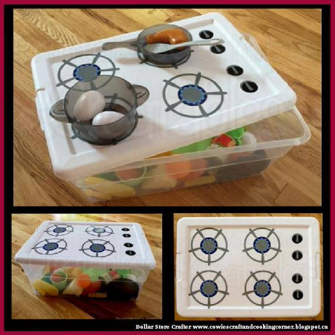 DIY Pack 'N' Go Kitchen Toy Stove Set