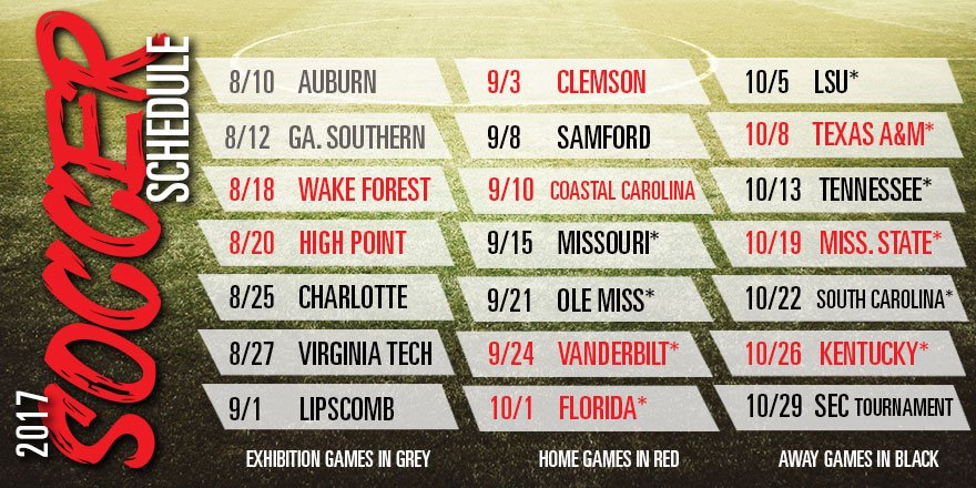 2017 Georgia Women's Soccer Schedule (Photo from Georgia Soccer/Twitter)