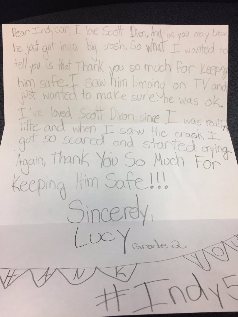 Checked out some of the @IndyCar mail. This letter to @scottdixon9 is fabulous. https://t.co/AtwoPgvqav