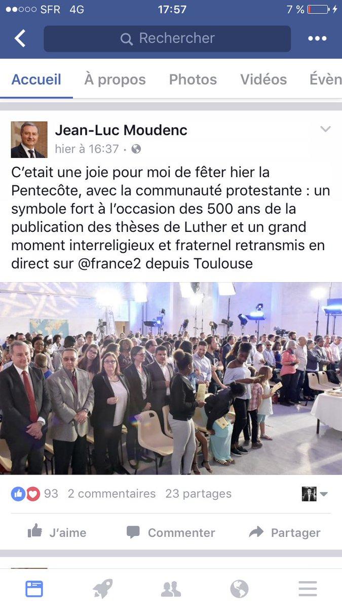 Ce n'est pas nouveau mais je n'ai décidément pas la même conception du rôle d'un Maire et de la laïcité que Jean-Luc Moudenc. #Laicite