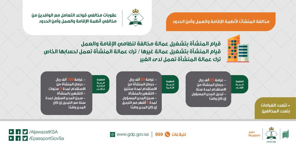 الجوازات السعودية בטוויטר أهلا بك عقوبة بصمة مرحل هي الابعاد 3 سنوات شكرا لتواصلك