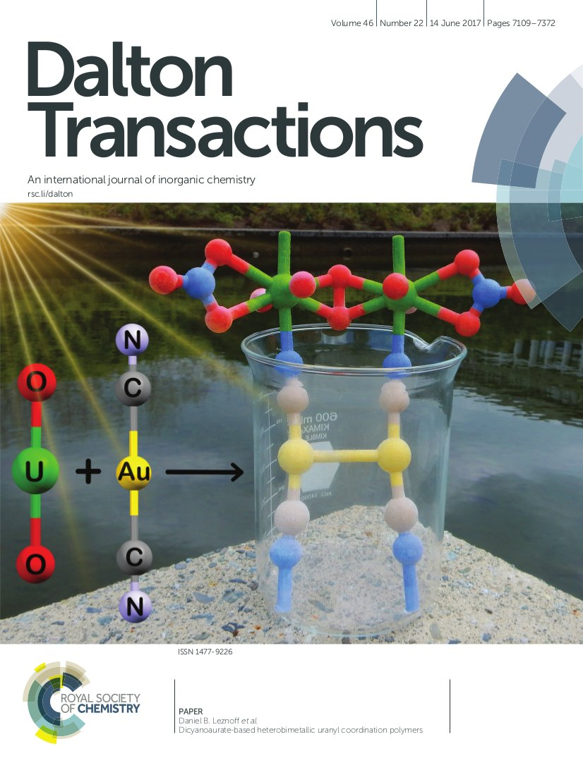 MY DALTON TRANSACTIONS COVER IS UP! https://t.co/0ipadcYik2 (Paper: https://t.co/cwXZODr5H0 ) #RealTimeChem https://t.co/jCSvER4mGo
