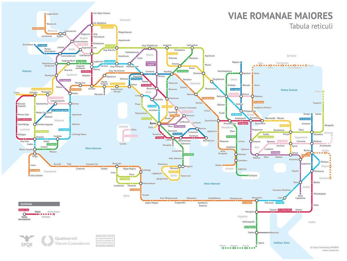 Esto es genial. Las calzadas romanas como si fueran un mapa de metro. https://t.co/Kqdy4Xk9uf https://t.co/Uq90p0Z2jM