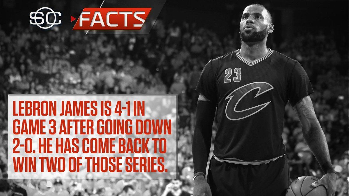 Don't count LeBron out when he's down 2-0. #SCFacts