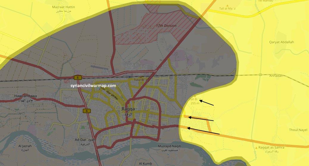 Raqqa Map