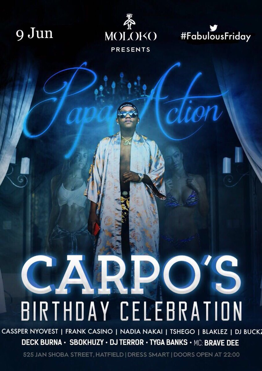 This Friday I'm out at MOLOKO for the fam @Carpo_mr_ birthday celebration! Make sure you come thru!!!!! 🔥🔥🔥🔥🔥🔥 https://t.co/GPHeoxjjk0