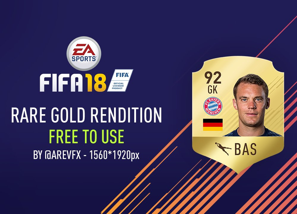 Arev On Twitter Rare Gold Card Rendition For Fifa  Free To Use Rt If This Helped Https T Co Vynzbv