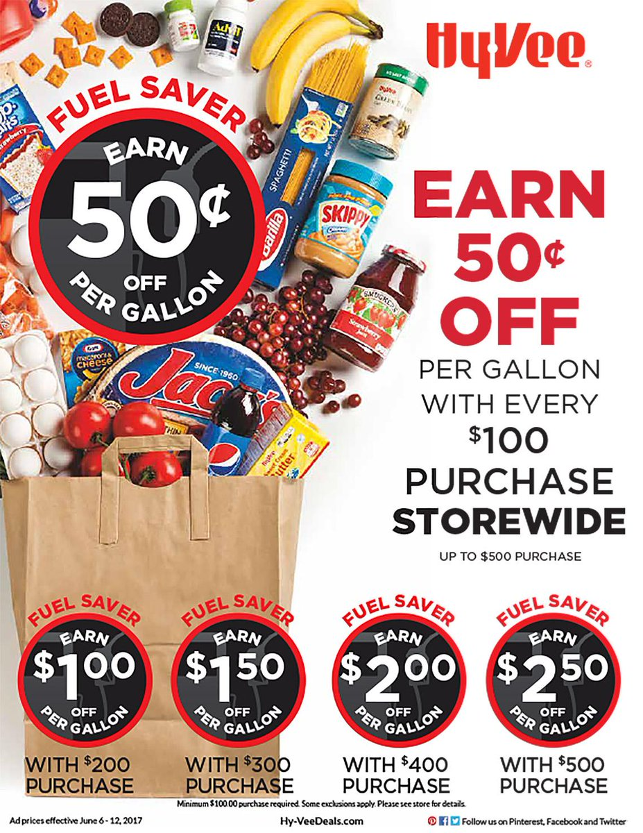Earn 50¢ Fuel Saver for every $100 spent storewide! Valid NOW- 6/12. 🚗...
