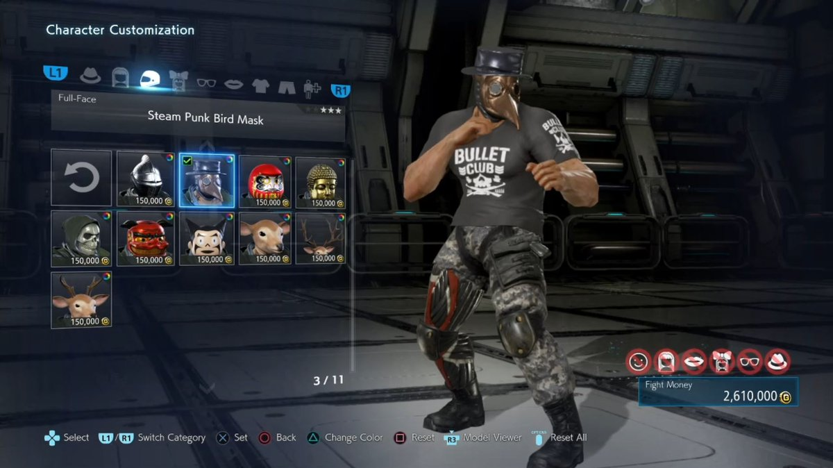 Littlekuriboh On Twitter I Played Some Tekken 7 And Holy Crap There S A Lot Of Customization For The Characters Of Course I Switched King To The Okada Costume
