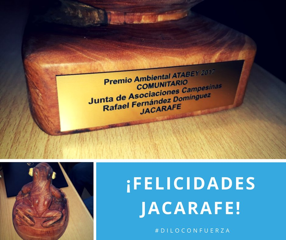 #GreatNews #DominicanRepublic: our FICE partner JACARAFE, just won the #ATABEY 2017 Environmental Award, in the Communitarian category. <br>http://pic.twitter.com/9ef8hjPphS