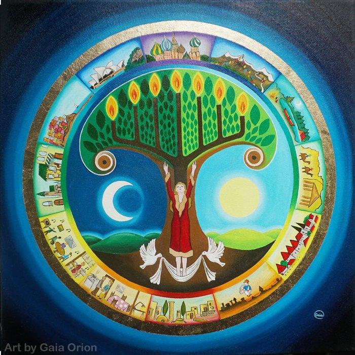A new painting #menorah #torah #treeoflife #mandala