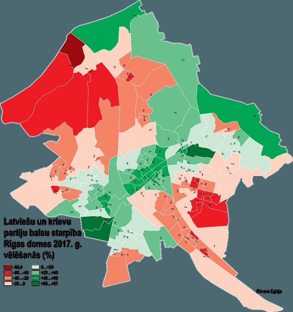 Latvisk Un Prkrievot Rga Latvieu Krievu Partiju Balsu Starpba Rgas Domes 2017