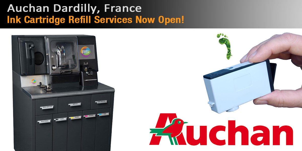 9th RIS #InkCenter installed into #Auchan #Dardilly, #France. Now providing in-store ink cartridge refill services:  http:// fr.inkjet411.com / &nbsp;  <br>http://pic.twitter.com/KsSmeHXQFV
