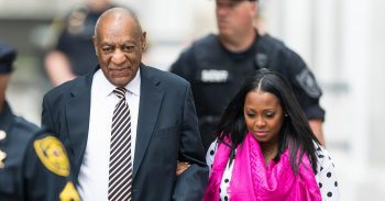 Bill Cosby arrives at court with TV daughter Keshia Knight Pulliam.Image from Twitter User LasVegasNvBlog