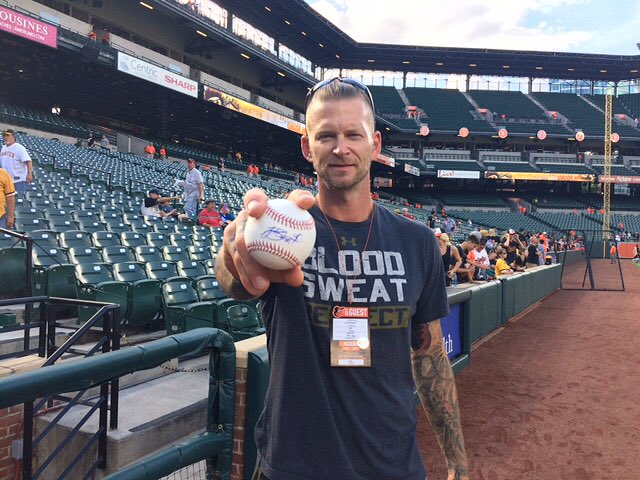 We caught up with some friends here in Baltimore today... 👀  RETWEET this now for your chance to win a SIGNED AJ Burnett ball!