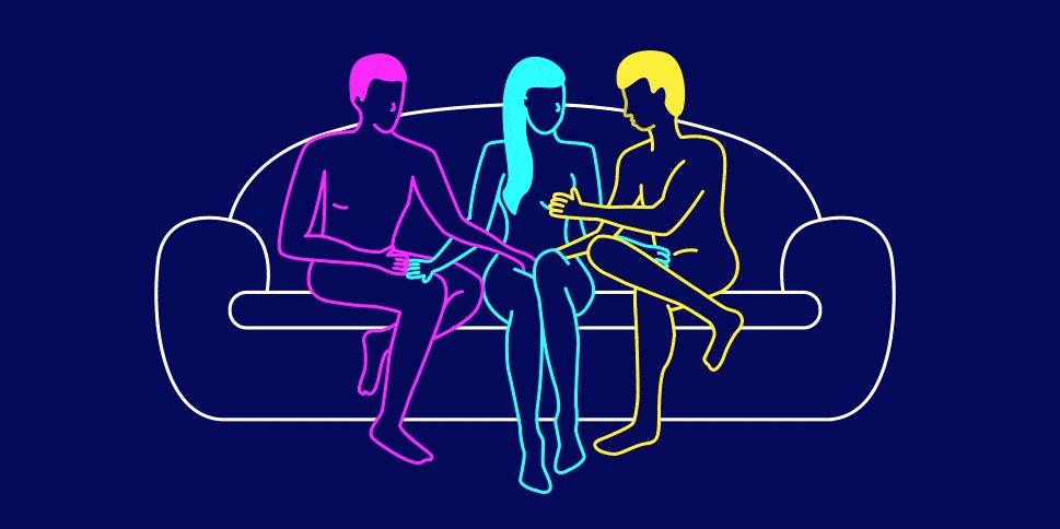 Negros tríos lesbianas