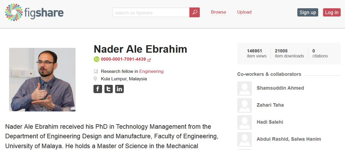 Thanks @figshare for providing an opportunity to reach over 20,000 downloads and 146,000 views  https:// figshare.com/authors/Nader_ Ale_Ebrahim/100797 &nbsp; …  #ResearchVisibility <br>http://pic.twitter.com/J9dwU1fFHe
