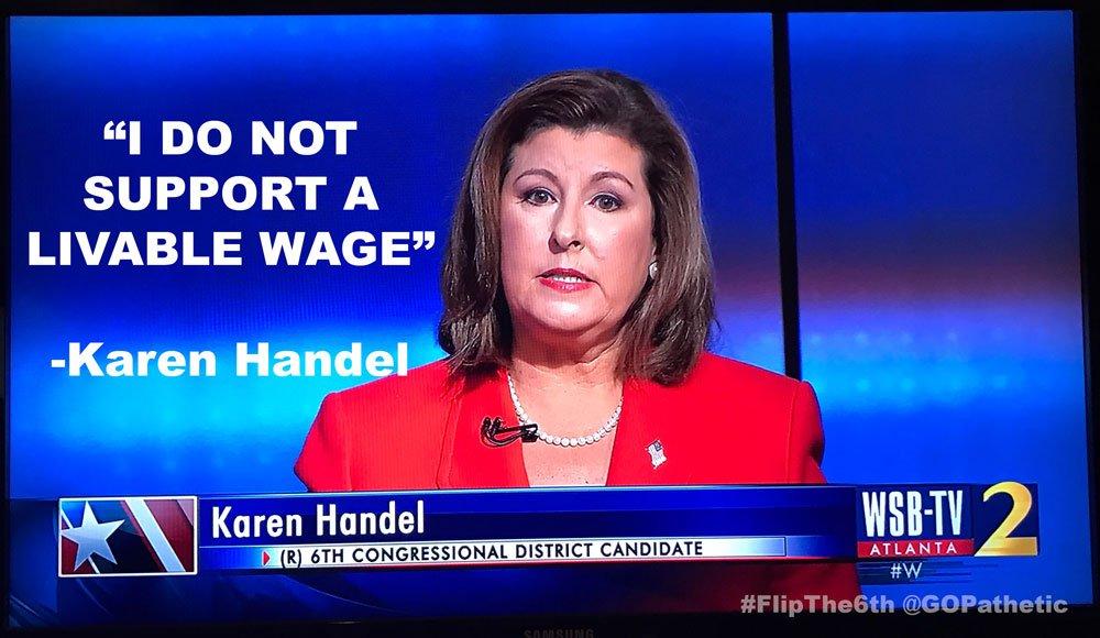 Dear @karenhandel, this is cruel and un-American.   #flipthesixth #GA06 #WSBdebate https://t.co/b6AKyBUs9H