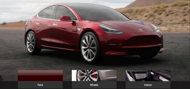 Teslamodel3 Configurator Will Open Late July With Very Limited Options Wheel Size And Color Said Elon Musk Model3 Tsla Teslapic Twitter