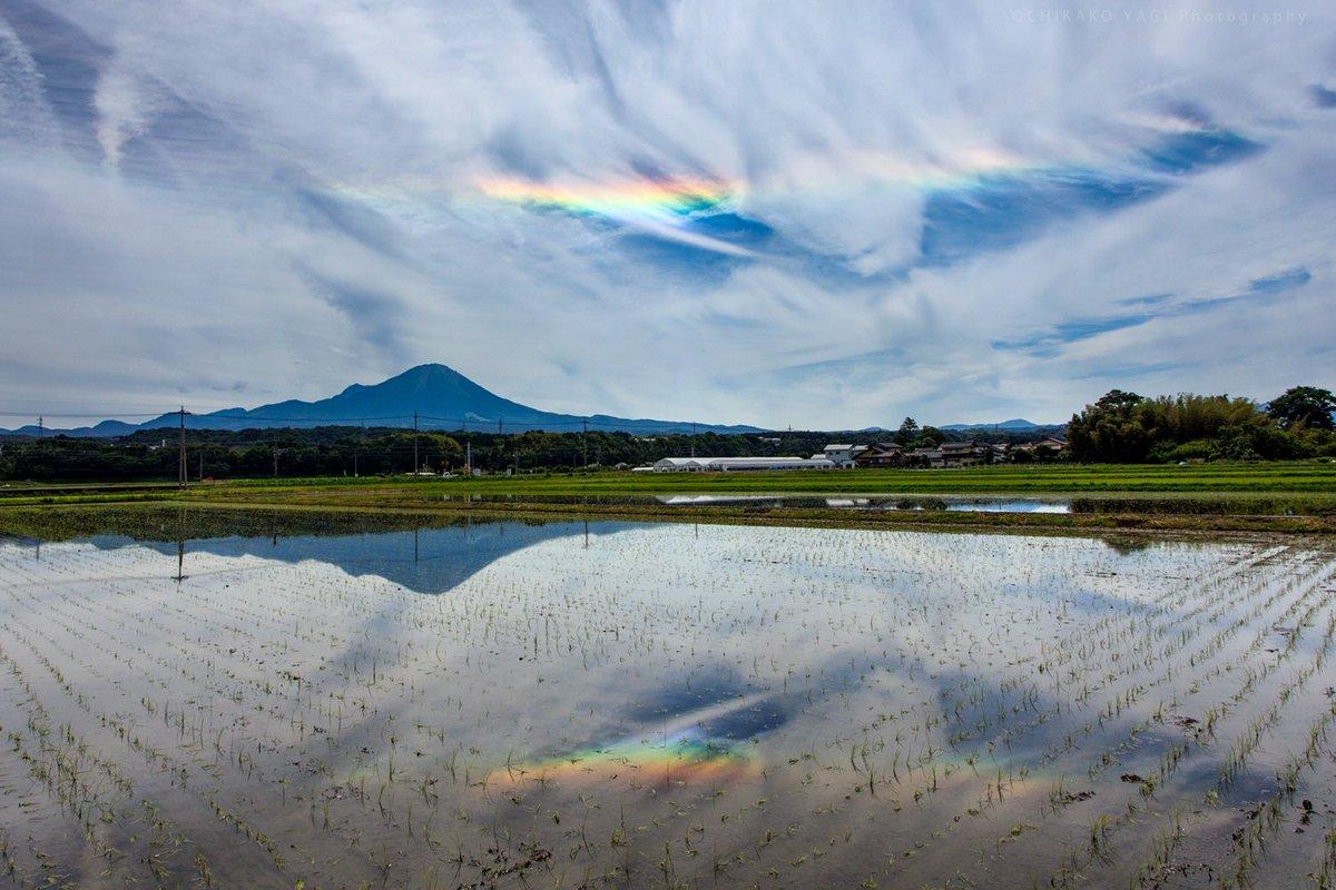 昨日、鳥取県大山で見た環水平アーク 一番色が濃い時でこれくらいかな でも美しかったです。  #クリ部 #ファインダー越しの私の世界 #空 #環水平アーク https://t.co/rjk12nro49