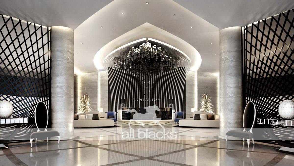 Lobby Capital Bay #dubai #lobby #decor #Construction #interiordesign  #lighting #