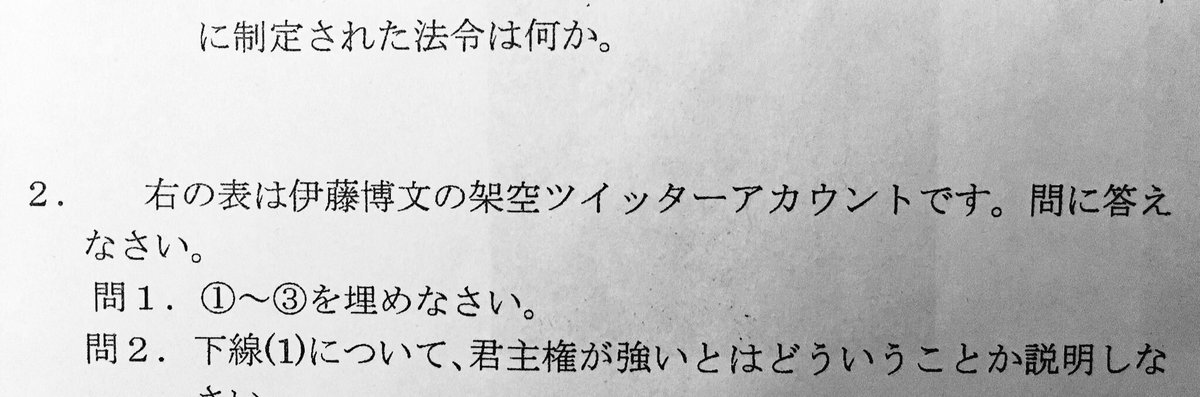 日本史のテストが面白い