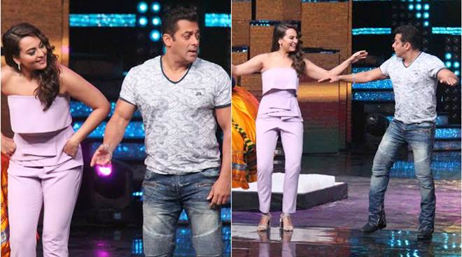 Salman Khan and Sonakshi Sinha Dabbang moments on sets of Nach Baliye 8 images pics
