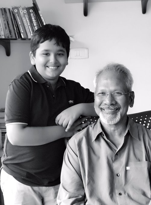 My Son Sarvajit 9 with his friend Mani Ratnam https://t.co/KGYjc9npvf
