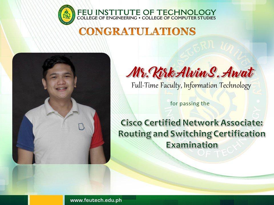 Feu Tech On Twitter Congratulations To Prof Kirk Awat For Passing