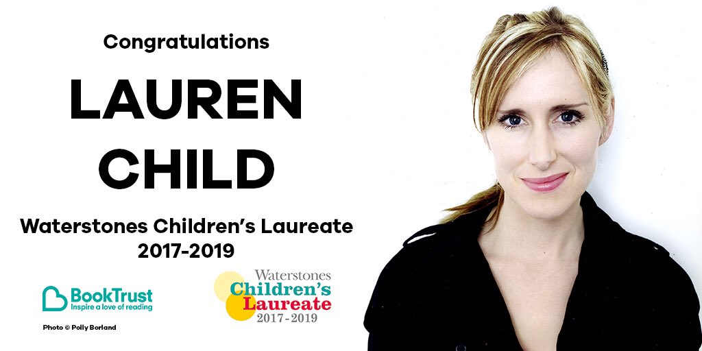 We're thrilled to announce that the new Waterstones #ChildrensLaureate is... LAUREN CHILD! https://t.co/3NccztZPwk