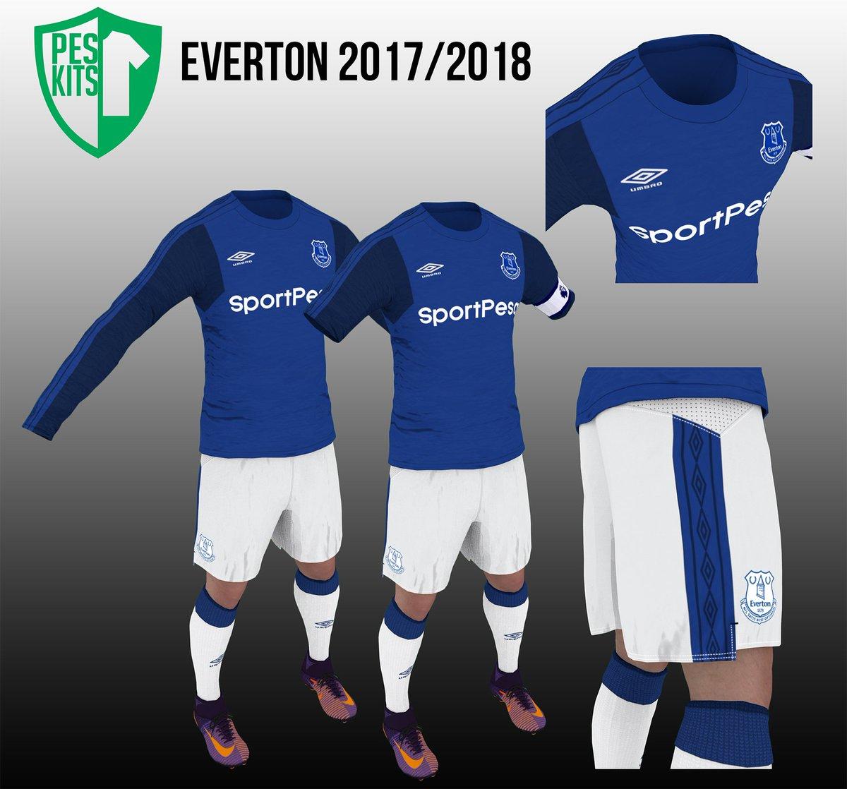 Indra Dian Kurniadi Di Twitter Everton 2017 18 Home Kit Peskits Pes2017