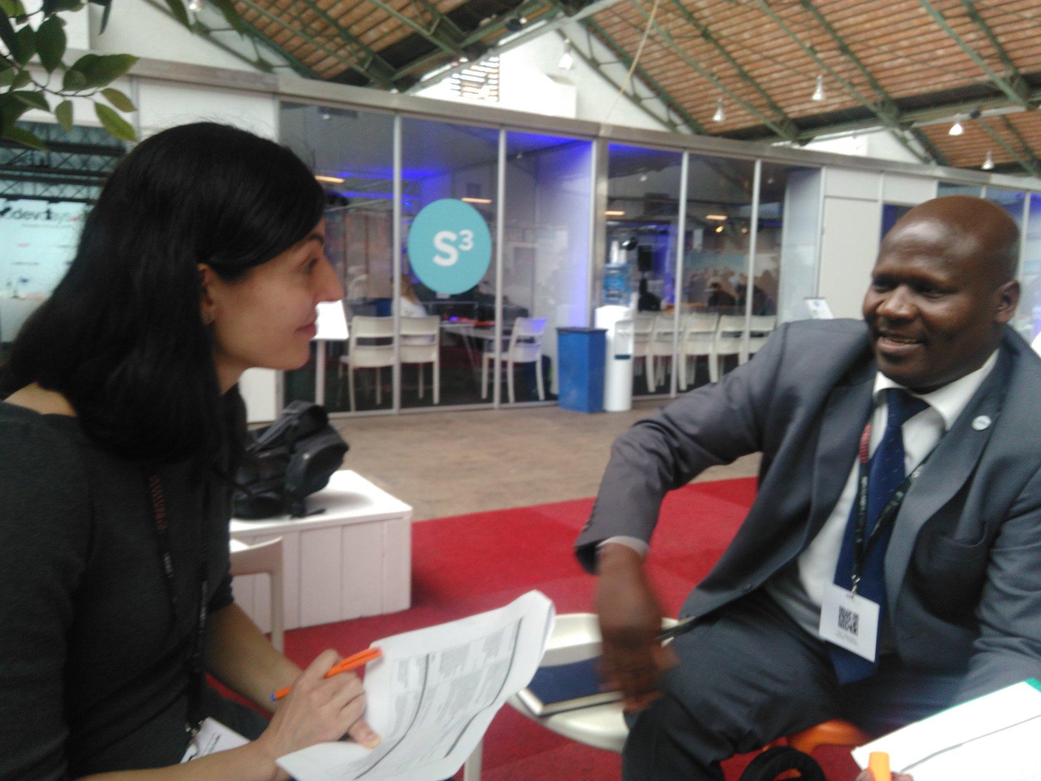 Moderator @SlaveaChankova  and @JChekweko from @RHUganda prep fro tomorrow's high level panel! #EDD17 https://t.co/eqqNk6xRRe