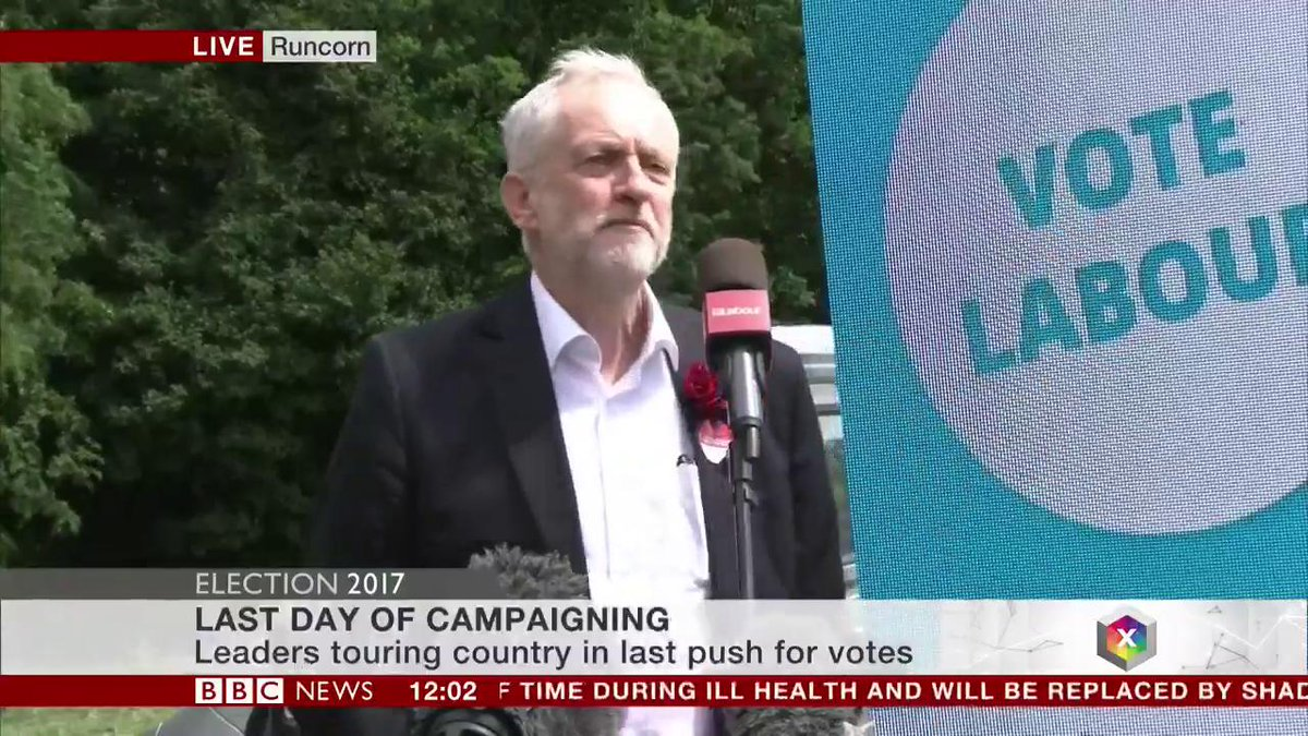 Jeremy Corbyn says it's a choice of 'hope or fear' at #GE2017  https://t.co/ZA5Y1grndR