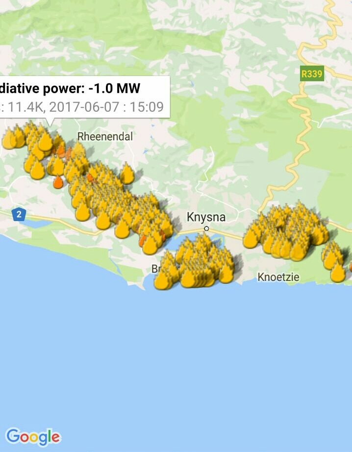 Knysna Fire Map.Vws Wildfires On Twitter Knysnafire Current Areas Affected More