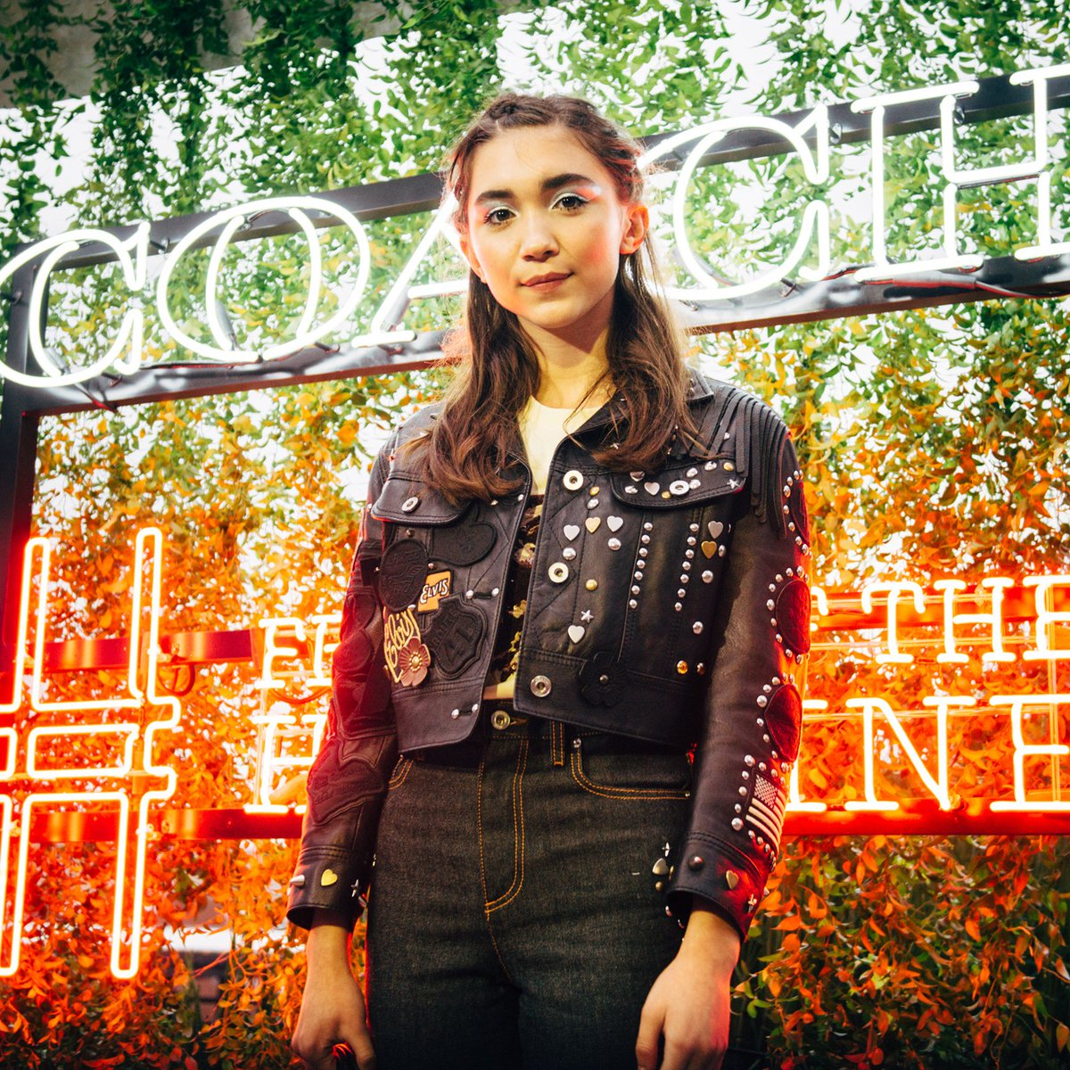 Actress #RowanBlanchard wears #CoachSpring2017 at last night's #CoachxHighline party. #CoachTheFragrance