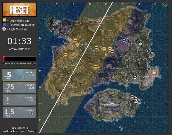 『PUBG』飛行機経路やパラシュート降下可能エリアがわかる便利マップ登場: #再ツイート