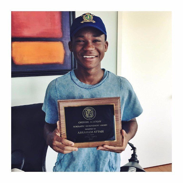 Abraham Attah earns award after ending first school year with a 4.0 GPAscore https://t.co/aIx1j5HdDb https://t.co/6Ygof3u31w