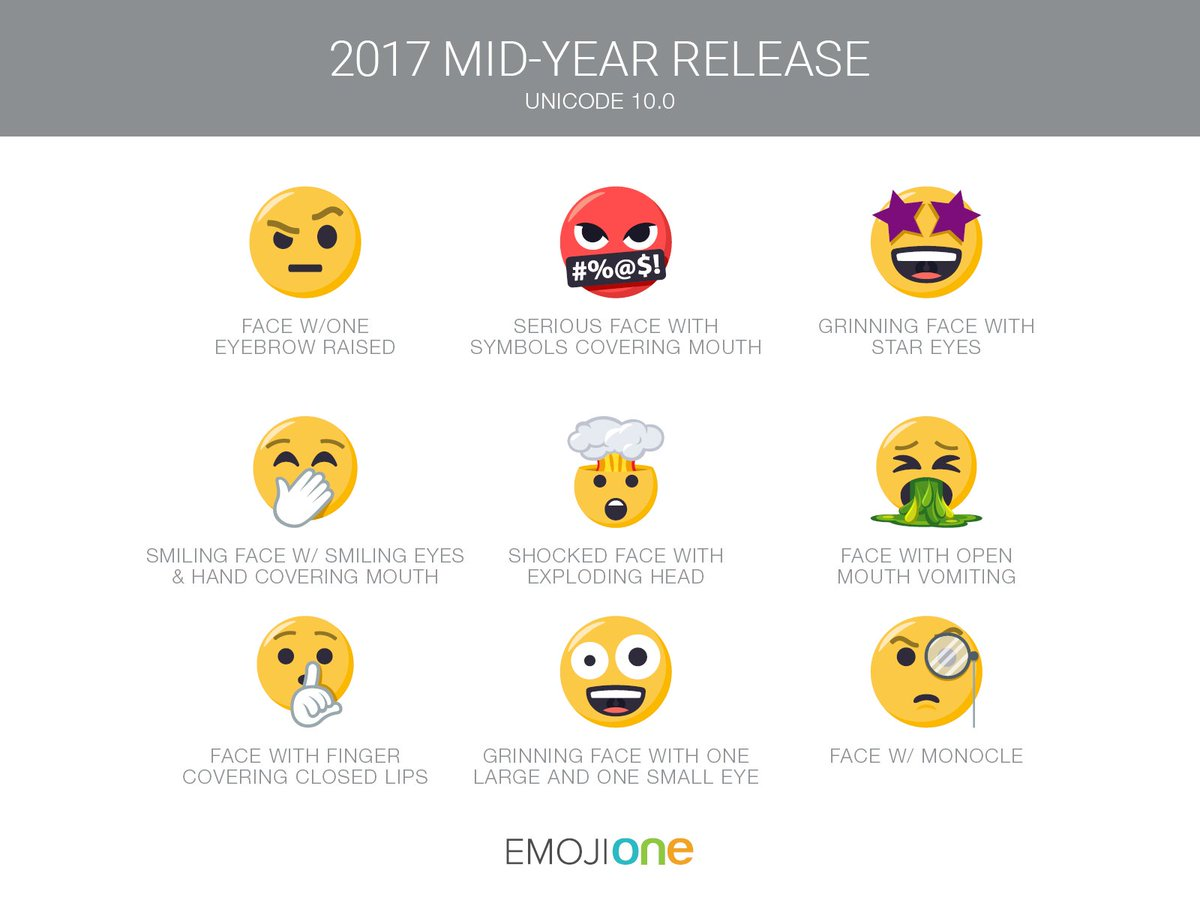 Emojione On Twitter 9 New Smileys Have Been Introduced Into