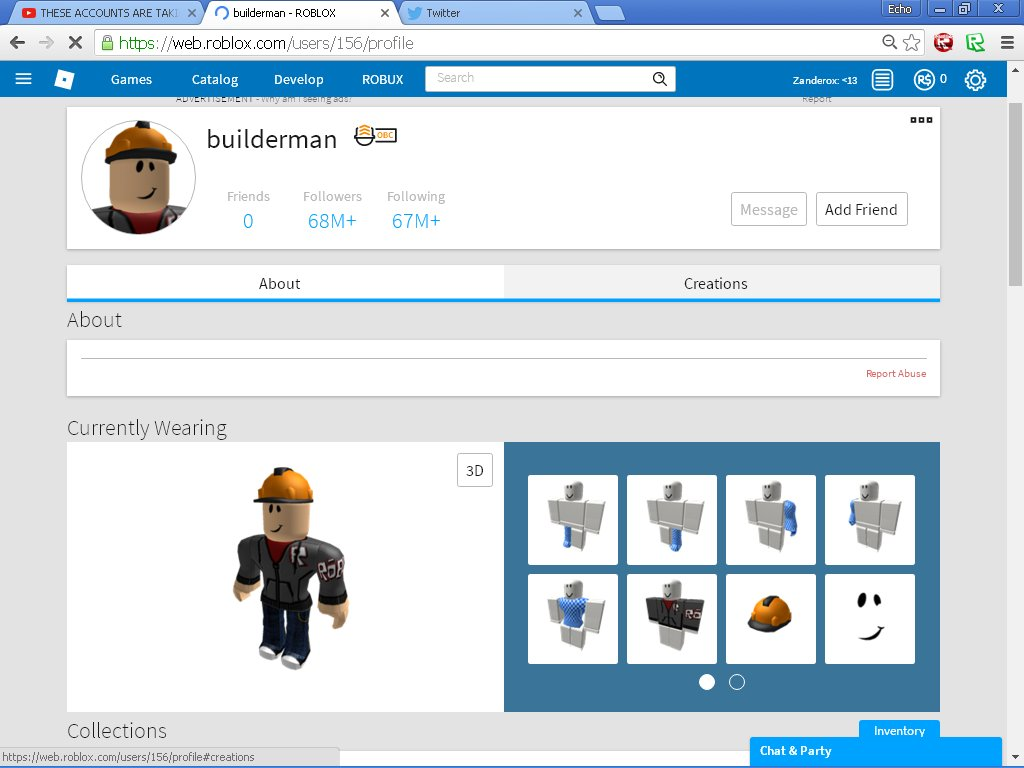 Ryuji On Twitter Builderman Has 68 047 749 Followers On Roblox