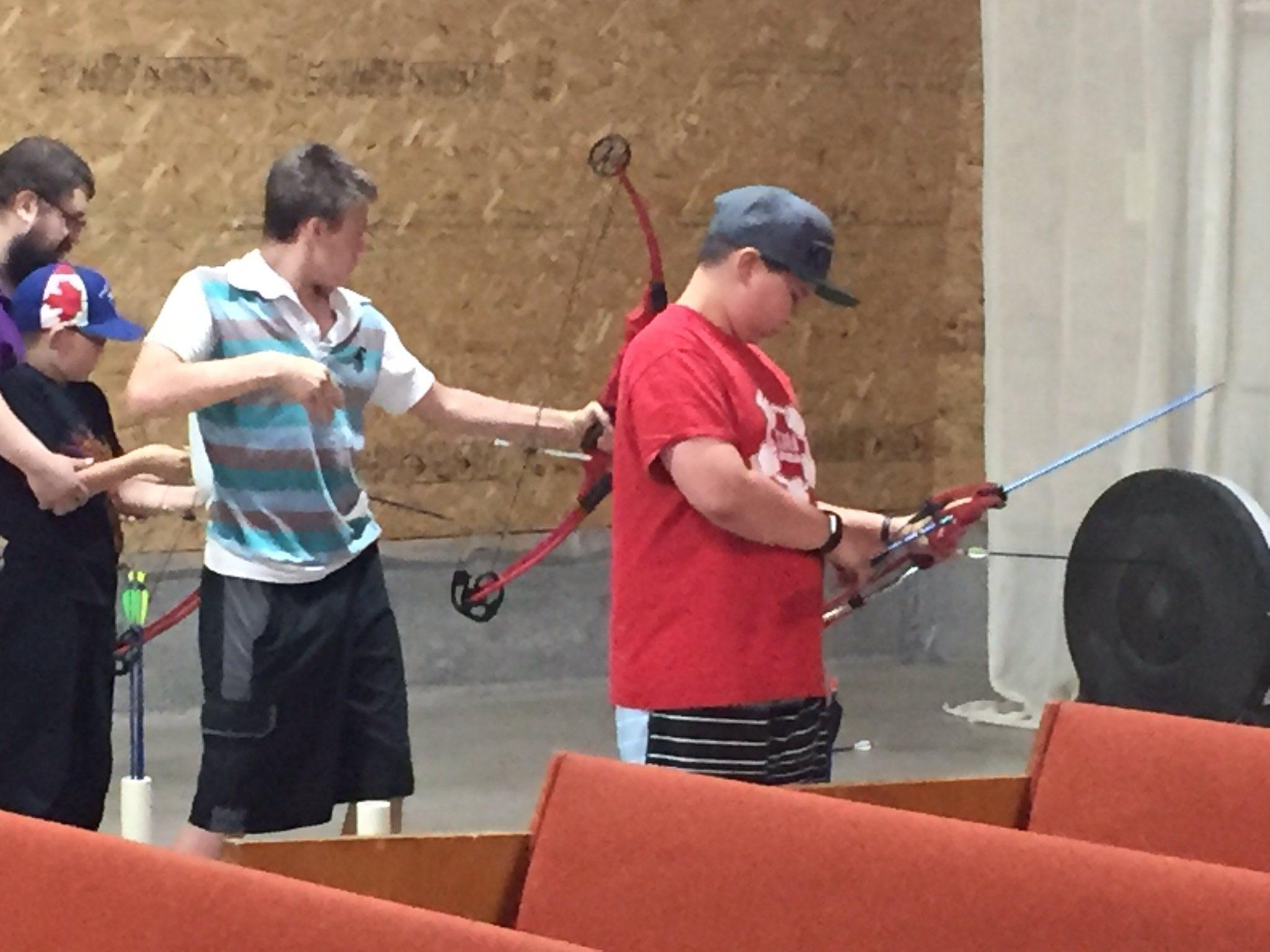 #donsch camping trip - archery https://t.co/wmcnUPXVCI