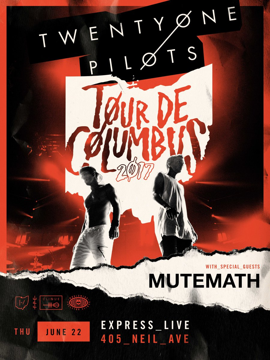 MUTEMATH will be joining @twentyonepilots one more time at @EXPRESSLIVEOH in Columbus on June 22nd // https://t.co/QCSN4bWbke