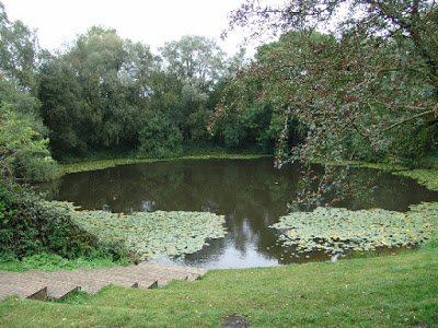 Jun 7, 1917 - This pond, south of Ypres, Belgium, is actually the Spanbroekmolen mine crater #100yearsago