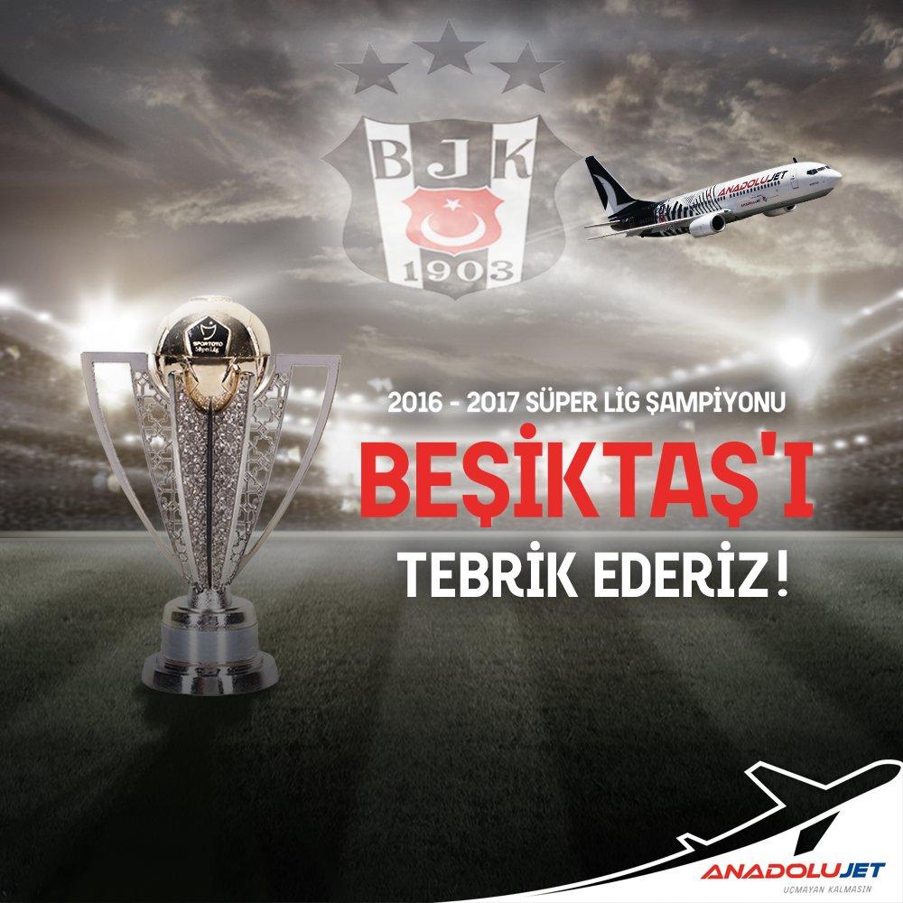 3. yıldızı gökyüzüne taşımanın mutluluğuyla, birlikte şampiyonluğa uçtuğumuz @Besiktas'ı yürekten tebrik ederiz! https://t.co/0yULCwllq6
