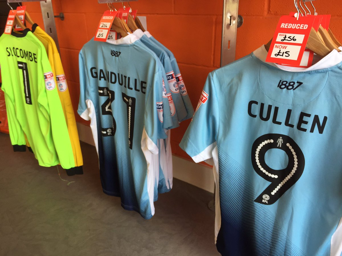 Blackpool Fc On Twitter Match Worn Shirts On Sale For Just 15 At The Club Shop