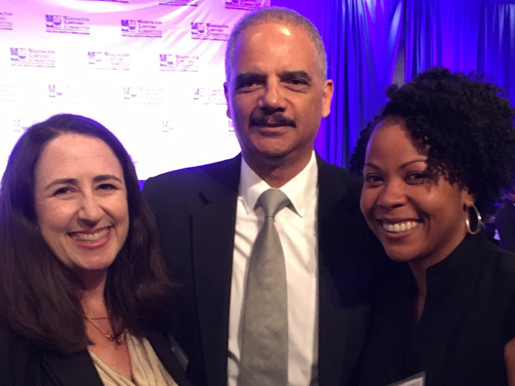 Honored to meet @EricHolder at the Washington Lawyers' Committee Wiley A Brandon Awards Luncheon @PathwaysDC https://t.co/dRKiiA3EVE