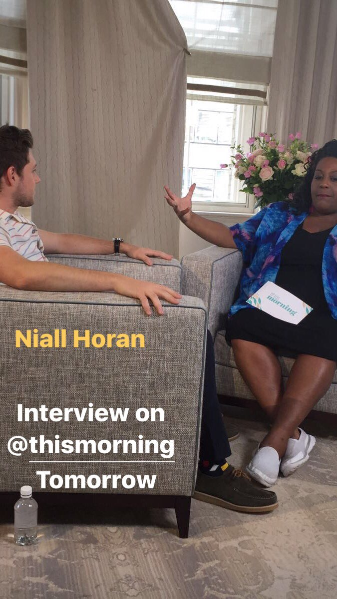 Tune into my interview with @NiallOfficial tomorrow on @thismorning Always a pleasure seeing this one