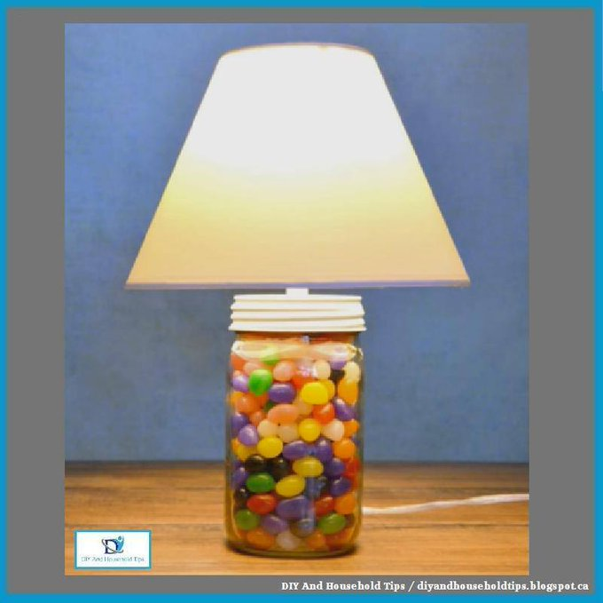 2-Minute Mason Jar Jellybean Lamp