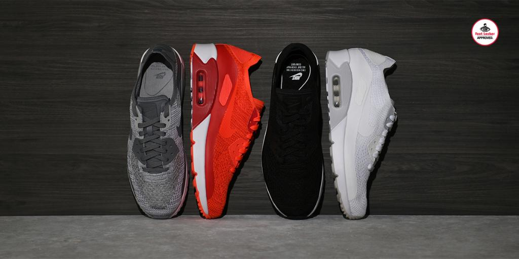 ebf1af737dbb  footlocker 1 year. ultralight icon the nike air max 90 flyknit is in  stores and online here