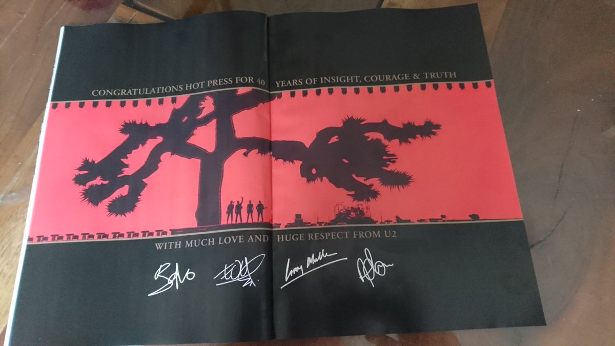 Thank you @u2 for the @hotpress birthday greetings! https://t.co/TVwr3odbD7